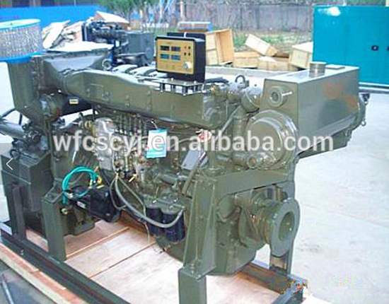 250hp weichai sery marine diesel engine with gear box 6126ZLC weifang supplier